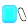 Airpods 2 Ultrathin Silicon case with hook Noctilucent (in box) мал.1