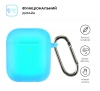 Airpods 2 Ultrathin Silicon case with hook Noctilucent (in box) мал.2