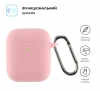 Airpods 2 Ultrathin Silicon case with hook Pink (in box) мал.2