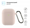 Airpods 2 Ultrathin Silicon case with hook Pink Sand (in box) мал.2