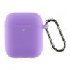 Airpods 2 Ultrathin Silicon case with hook Purple (in box) мал.1