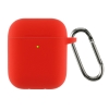 Airpods 2 Ultrathin Silicon case with hook Red (in box) мал.1