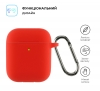 Airpods 2 Ultrathin Silicon case with hook Red (in box) мал.2