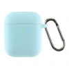 Airpods 2 Ultrathin Silicon case with hook Sky Blue (in box) мал.1
