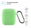Airpods 2 Ultrathin Silicon case with hook Spearmint (in box) мал.2