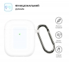 Airpods 2 Ultrathin Silicon case with hook Transparent (in box) мал.2