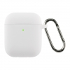 Airpods 2 Ultrathin Silicon case with hook White (in box) мал.1
