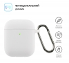 Airpods 2 Ultrathin Silicon case with hook White (in box) мал.2