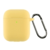 Airpods 2 Ultrathin Silicon case with hook Yellow (in box) мал.1