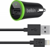Belkin Car Charger with Lightning to USB Cable (10 watt/2.4 Amp) Black рис.1