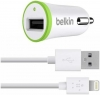 Belkin Car Charger with Lightning to USB Cable (10 watt/2.4 Amp) White рис.1